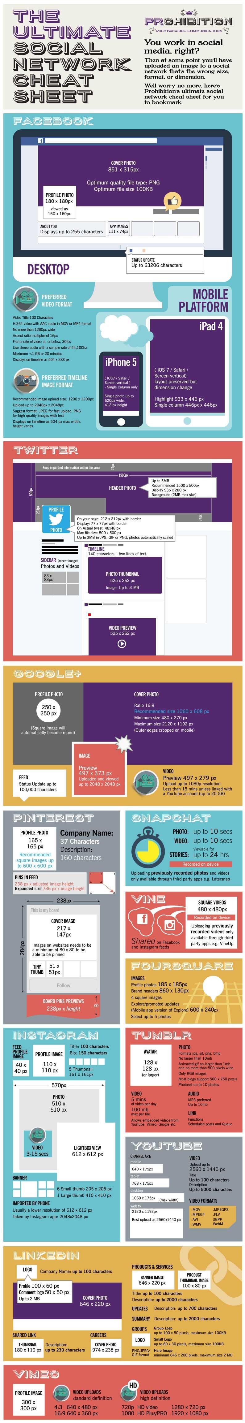 Social Media Imágen y Vídeo