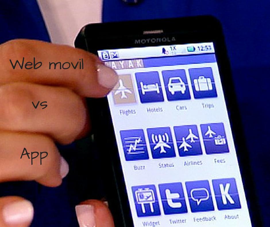 Web móvil vs App viajes