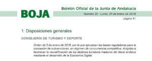 subvencion turismo andalucia